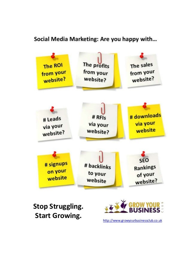 Stop Struggling. Start Growing. http://www.growyourbusinessclub.co.uk