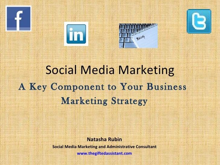 Social Media MarketingA Key Component to Your Business        Marketing Strategy                       Natasha Rubin      ...