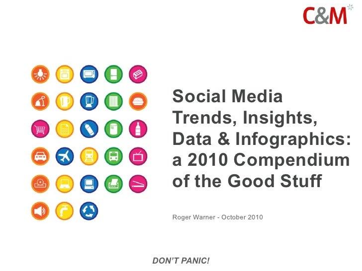 Social Media     Trends, Insights,     Data & Infographics:     a 2010 Compendium     of the Good Stuff     Roger Warner -...