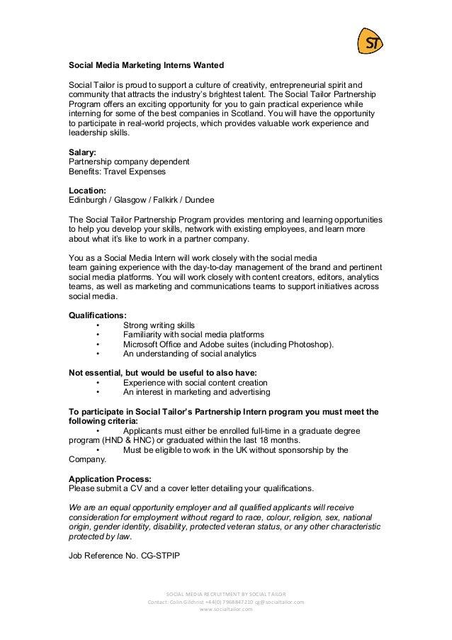Social Media Cover Letter No Experience from image.slidesharecdn.com