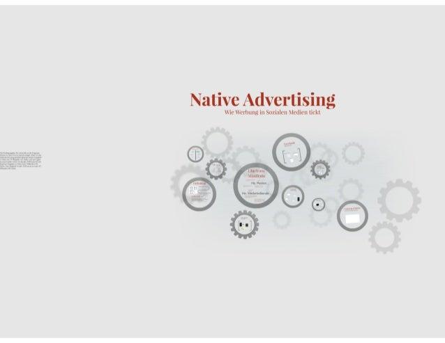 Native Advertising: Wie Werbung in Sozialen Netzwerken tickt. Von Gnocchi GmbH Digital Marketing und Angelink AG Content C...