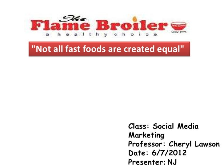 """Not all fast foods are created equal""                        Class: Social Media                        Marketing        ..."