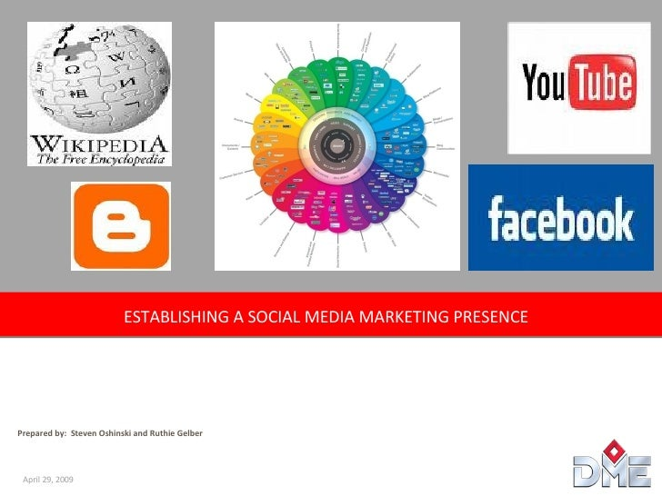 ESTABLISHING A SOCIAL MEDIA MARKETING PRESENCE  Prepared by:  Steven Oshinski and Ruthie Gelber April 29, 2009