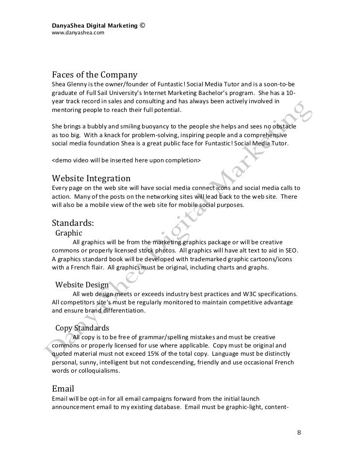 Social media marketing plan sample 8 pronofoot35fo Gallery