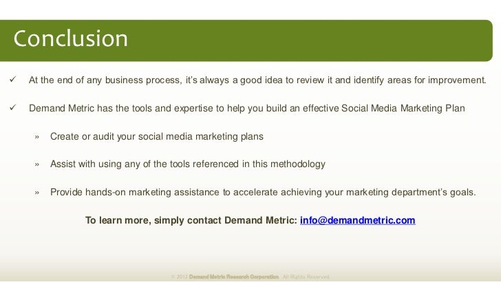 social media business plans
