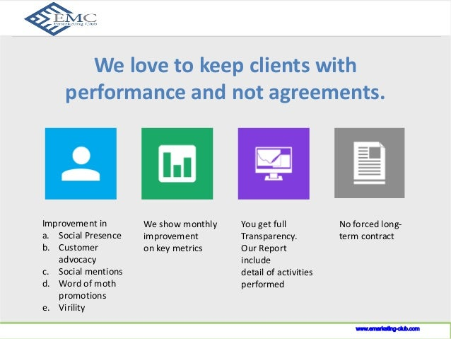 Our Guarantee  www.indusnet.co.in  Improvement in  a. Social Presence  b. Customer  advocacy  c. Social mentions  d. Word ...