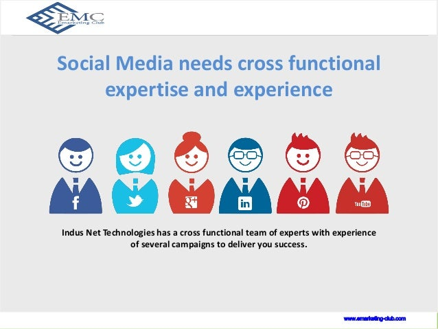 Social Media is a dynamic process  Social Media needs cross functional  www.indusnet.co.in  expertise and experience  Indu...