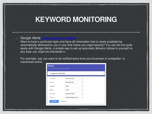KEYWORD MONITORING Hootsuite www.hootsuite.com Filter by Keyword to conveniently cut through unrelated search results and ...