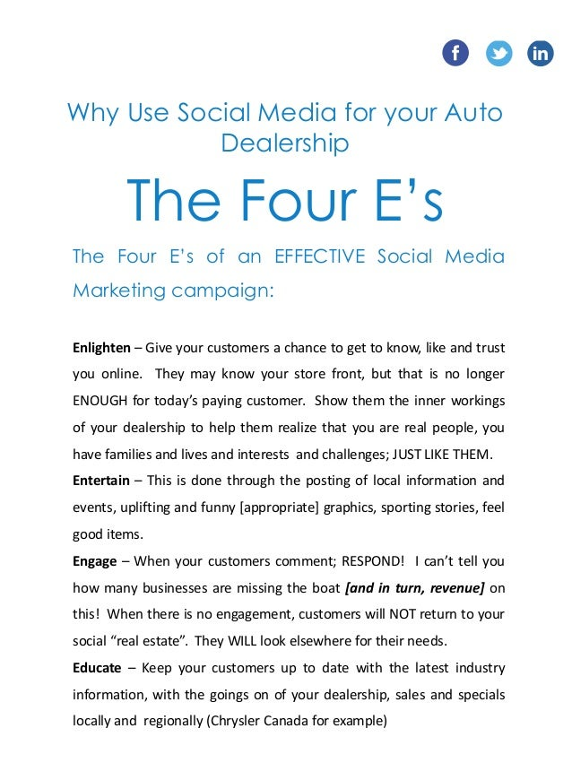Social Media Marketing Proposal Tiredriveeasy