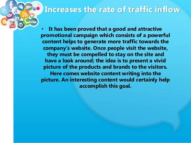 Increases the rate of traffic inflow • It has been proved that a good and attractive promotional campaign which consists o...