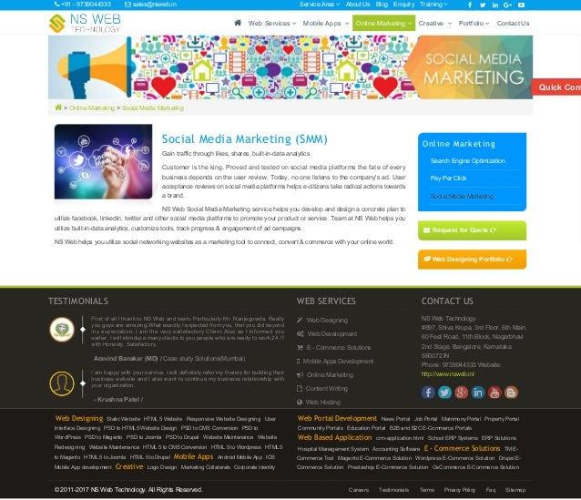  > Online Marketing > Social Media Marketing Social Media Marketing (SMM) Gain traffic through likes, shares, built-in-da...