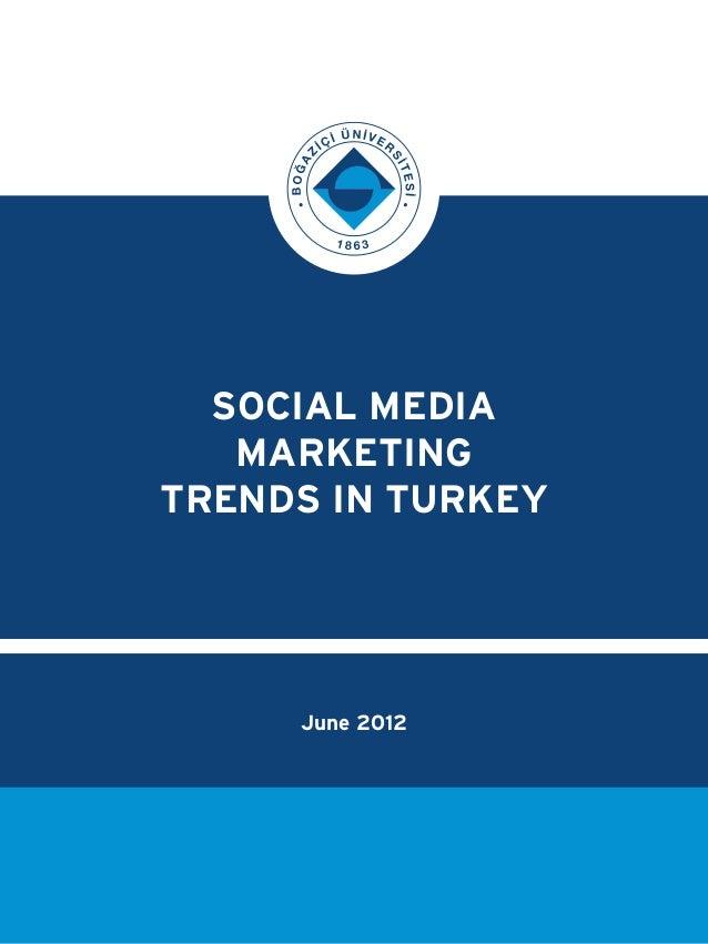 SOCIAL MEDIA MARKETING TRENDS IN TURKEY June 2012
