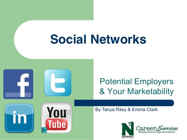 Social Networks        Potential Employers        & Your Marketability       By Tanya Riley & Emma Clark