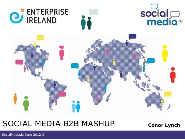 SOCIAL MEDIA B2B MASHUP      Conor LynchSocialMedia.ie June 2012 ©