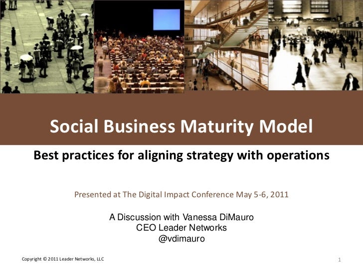 L E A D E R NETWORKS                Social Media Maturity Model     Best practices for aligning strategy with operations  ...