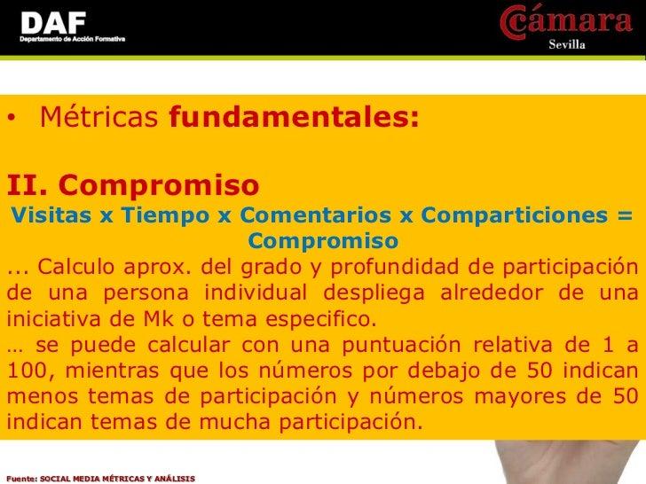 • Métricas fundamentales:II. CompromisoII.II. Compromiso activo * Comentarios * Colaboradores exclusivos * Descargas * Par...
