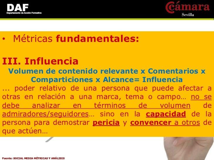 • Métricas fundamentales:V. Impacto   Resultados / (Interacciones + Compromiso)=                        ImpactoROI… las mé...