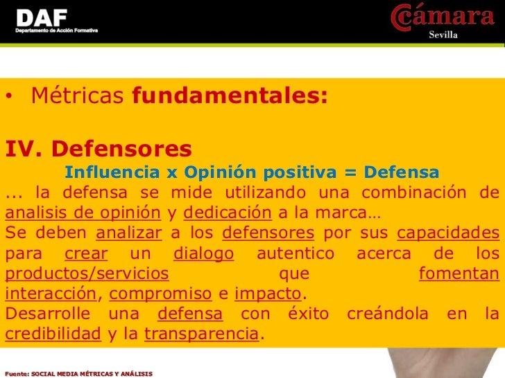 • Métricas de valor empresarial:IngresosAcciones de mercadoSatisfacción del consumidorFuente: SOCIAL MEDIA MÉTRICAS Y ANÁL...