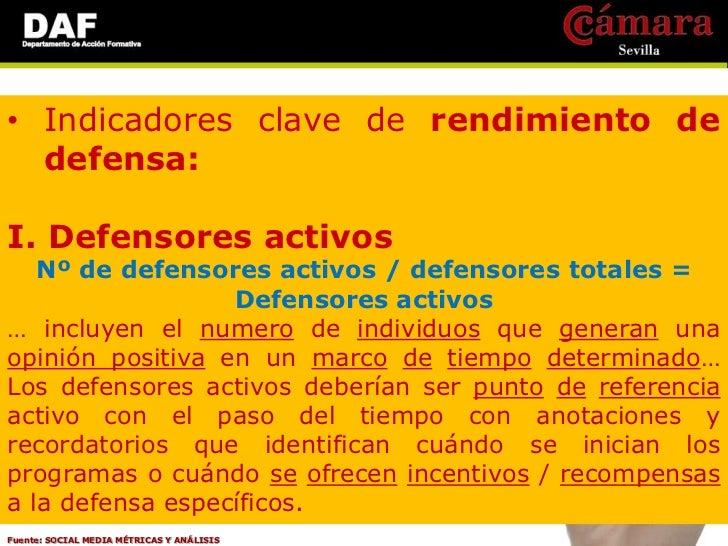 • Indicadores clave de rendimiento de  defensa:III. Impacto de defensa  Nº de conversaciones dirigidas por la defensa /   ...