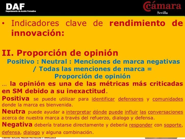 • Indicadores clave de rendimiento de  innovación:III. Impacto de Ideas       Nº de conversaciones de ideas positivas,  Co...