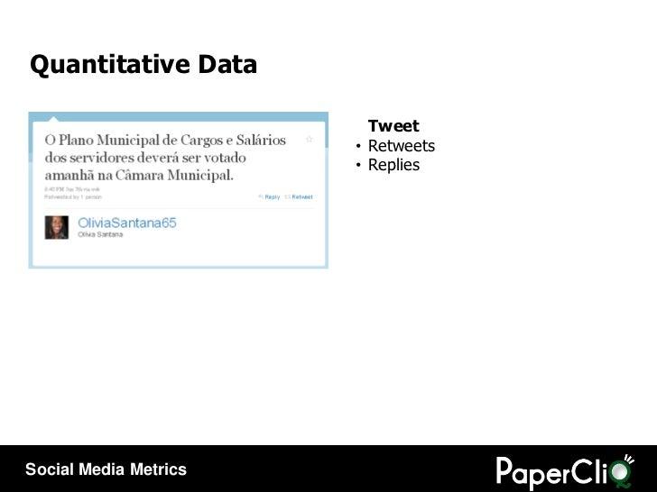 <ul><li>Tweet </li></ul><ul><li>Retweets </li></ul><ul><li>Replies </li></ul>Quantitative Data