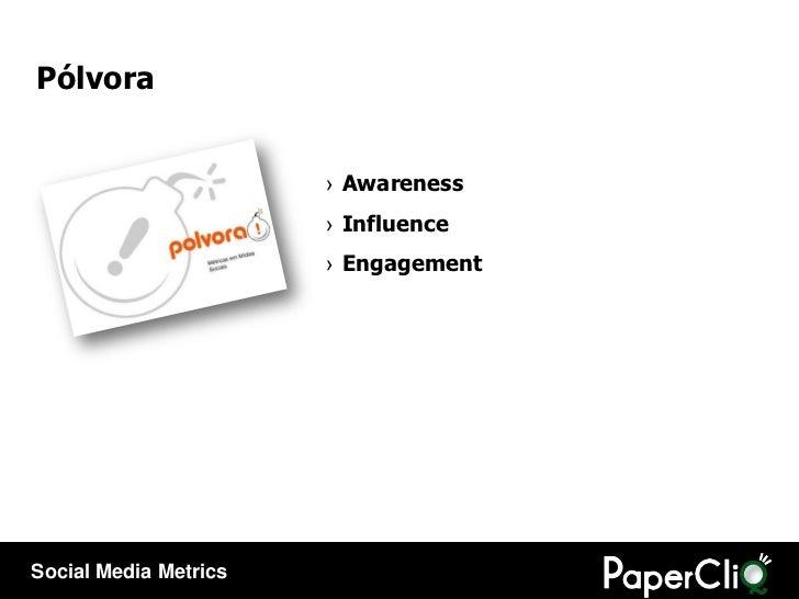 Pólvora <ul><li>Awareness </li></ul><ul><li>Influence </li></ul><ul><li>Engagement </li></ul>