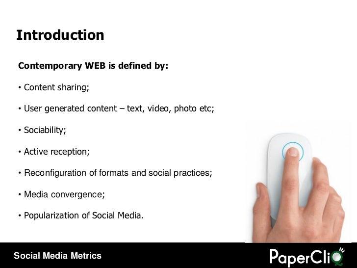 Introduction <ul><li>Contemporary WEB is defined by: </li></ul><ul><li>Content sharing; </li></ul><ul><li>User generated c...