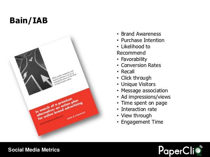 Bain/IAB <ul><li>Brand Awareness </li></ul><ul><li>Purchase Intention </li></ul><ul><li>Likelihood to Recommend </li></ul>...
