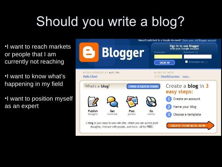 What Makes a Good Blog? flickr.com/stevegarfield