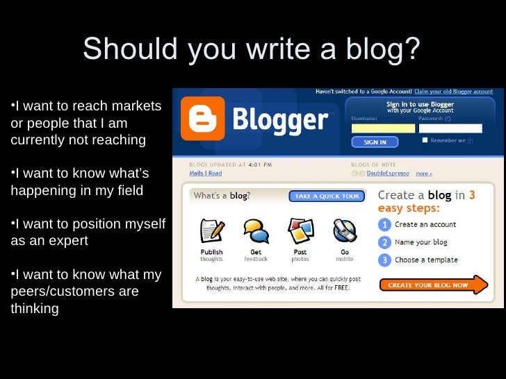 •Show Your Personality What Makes a Good Blog? flickr.com/stevegarfield