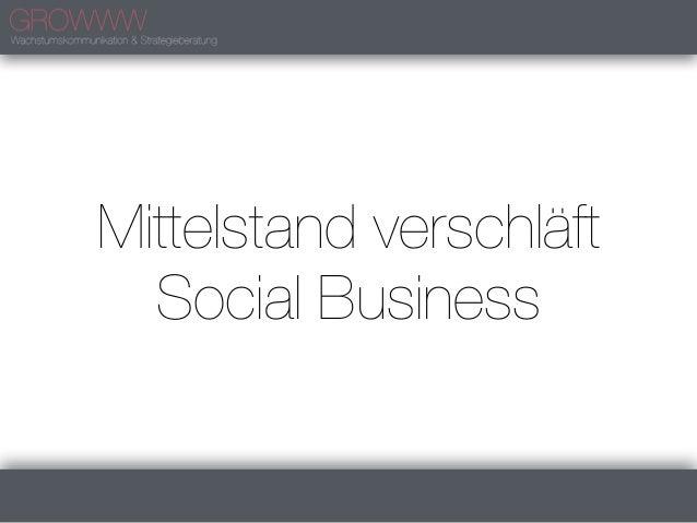 Mittelstand verschläft  Social Business