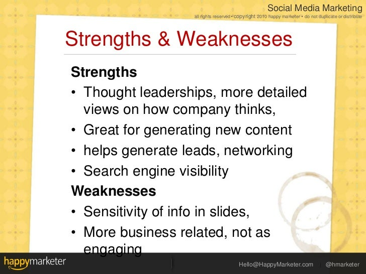 weaknesses that are strengths