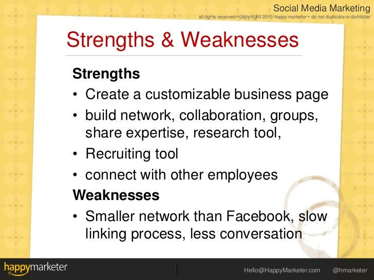 Social Media Landscape 2011: Strengths & Weaknesses