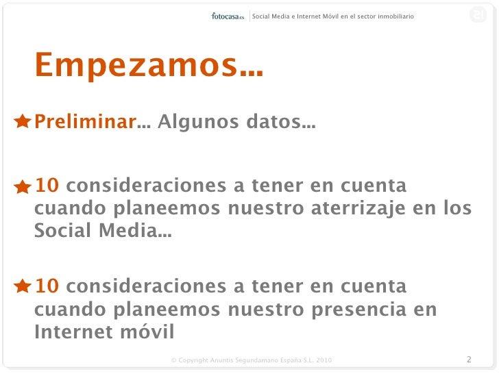 Socialmedia e internet móvil- ¿Cómo puede ayudar al sector inmobiliario? Slide 2