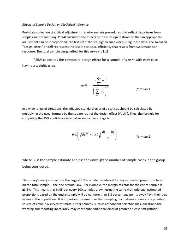EffectsofSampleDesignonStatisticalInference  Post‐datacollectionstatisticaladjustmentsrequireanalysisprocedur...