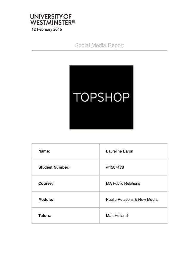 Social media monitoring: Topshop