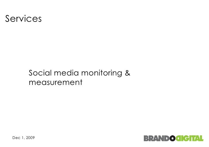 Services Social media monitoring & measurement