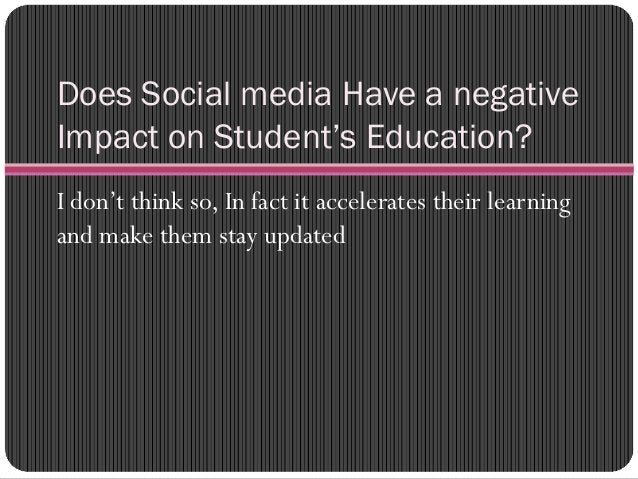 Use of Social Media in Learning Most schools have created online communities and ask their students to join that so that t...