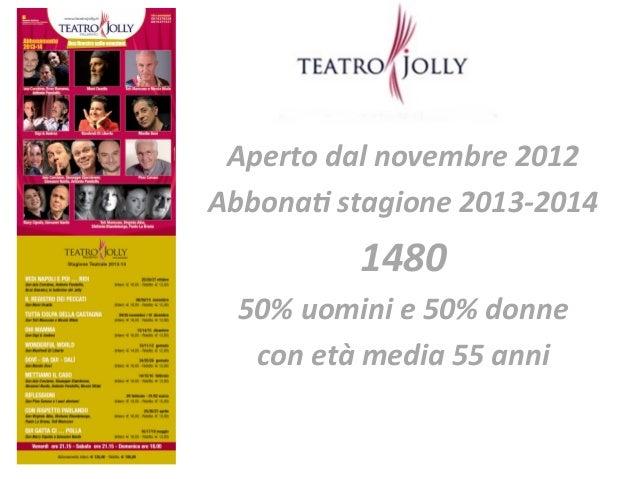 Aperto  dal  novembre  2012   Abbona5  stagione  2013-‐2014     1480     50%  uomini  e  50%  ...
