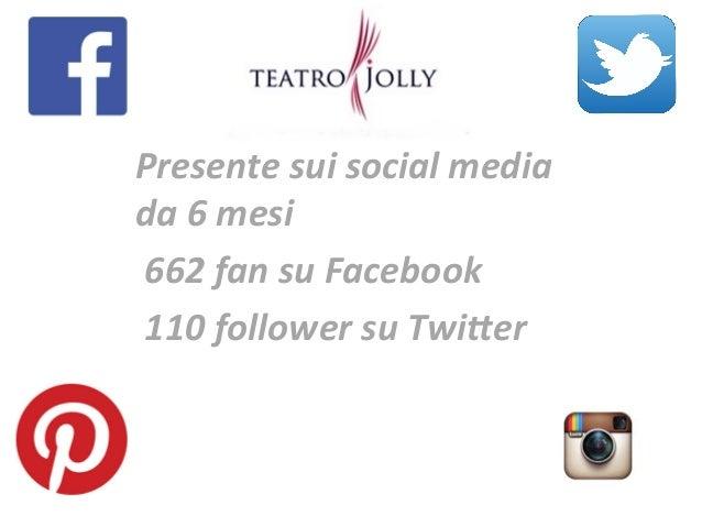 Presente  sui  social  media   da  6  mesi       662  fan  su  Facebook     110  follower  ...