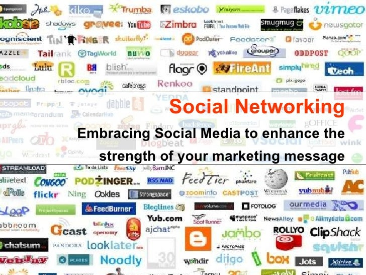 Social Networking Embracing Social Media to enhance the strength of your marketing message