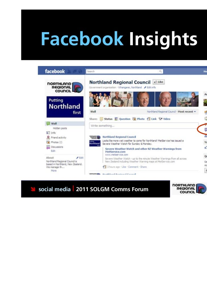 Facebook Insights social media | 2011 SOLGM Comms Forum   Putting Northland first