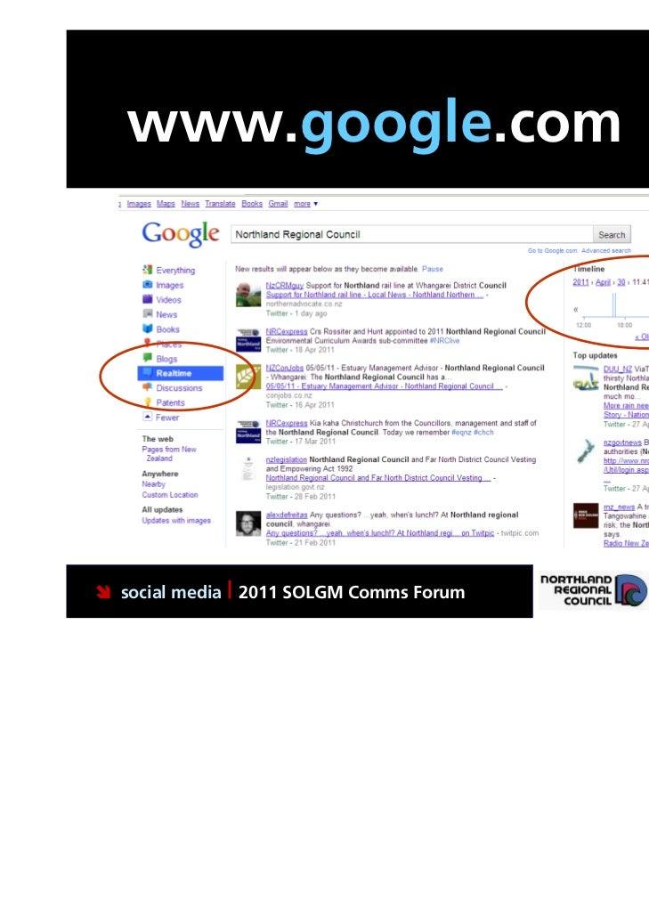www.google.com social media | 2011 SOLGM Comms Forum   Putting Northland first