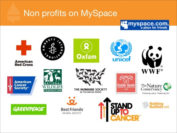 Non profits on MySpace