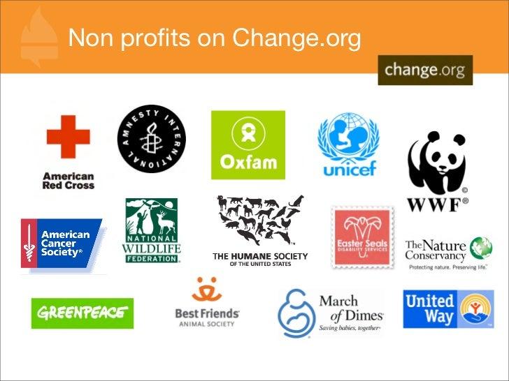 Non profits on Change.org