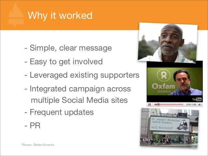 Why it worked    - Simple, clear message  - Easy to get involved  - Leveraged existing supporters  - Integrated campaign a...