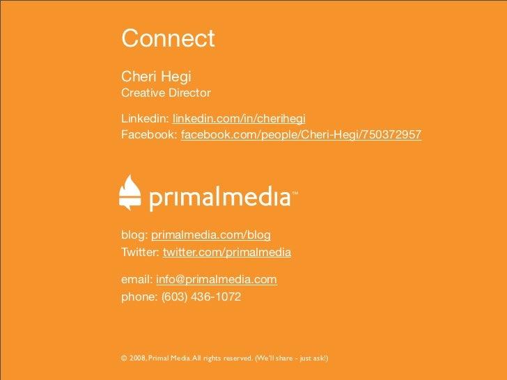 Connect Cheri Hegi Creative Director  Linkedin: linkedin.com/in/cherihegi Facebook: facebook.com/people/Cheri-Hegi/7503729...
