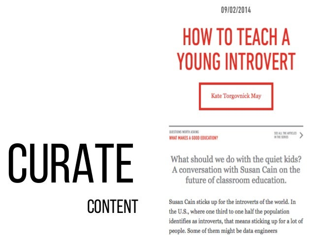 curate content