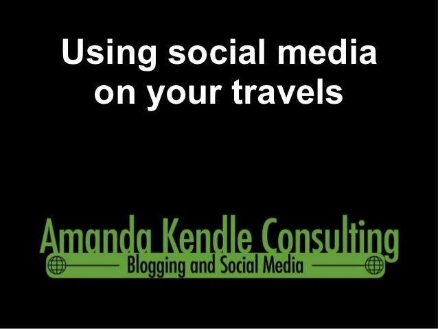 Using social media on your travels