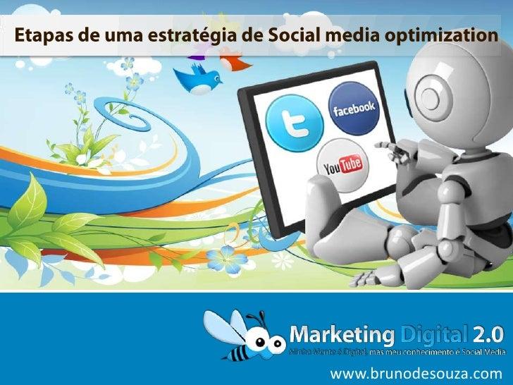 Etapas de uma estratégia de Social media optimization<br />www.brunodesouza.com<br />